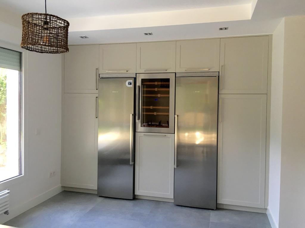 Cocina con campana decorativa de techo muebles los pepotes - Cocina con campana decorativa ...