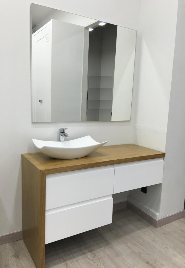 Mueble de ba o encimera madera muebles los pepotes for Encimeras de madera para banos